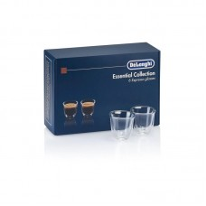 Set 6 pahare espresso DeLonghi Essential Collection, 6x60ml, Sticla termorezistenta, Transparente, Perete dublu