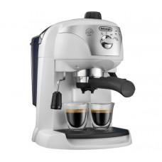 Espressor cu pompa DeLonghi EC221.White, Dispozitiv spumare, Sistem cappuccino, 15 Bar, 1 l, Oprire automata
