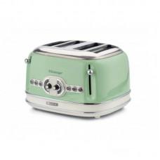 Prajitor de paine Ariete, 0156 Vintage, 1600 W, 4 Felii, crem/green