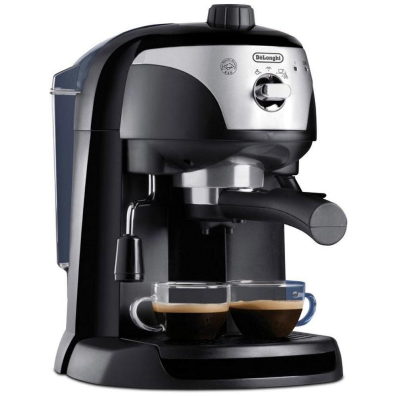 Espressor cu pompa DeLonghi EC221.Black, Dispozitiv spumare, Sistem cappuccino, 15 Bar, 1 l, Oprire automata
