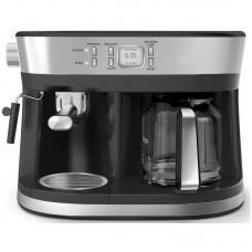 Espressor Studio Casa Delicia Combi INOX, 15 bar, 2 in 1, espressor de cafea si un filtru de cafea, 1850 W, timer