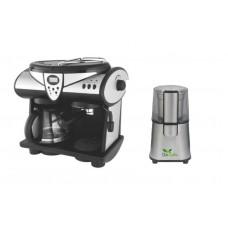 Pachet Espressor Studio Casa 1353 New Delicia Combi , 15 Bar, 2 In 1 + Rasnita Del Caffe Grind Master, 220W, 60G