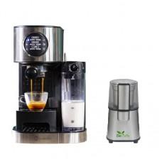 Pachet Espressor Cafea Studio Casa, Sc509 Barista Latte, 15Bar, Cu Rezervor Lapte + Rasnita Del Caffe Grind Master, 220W, 60G